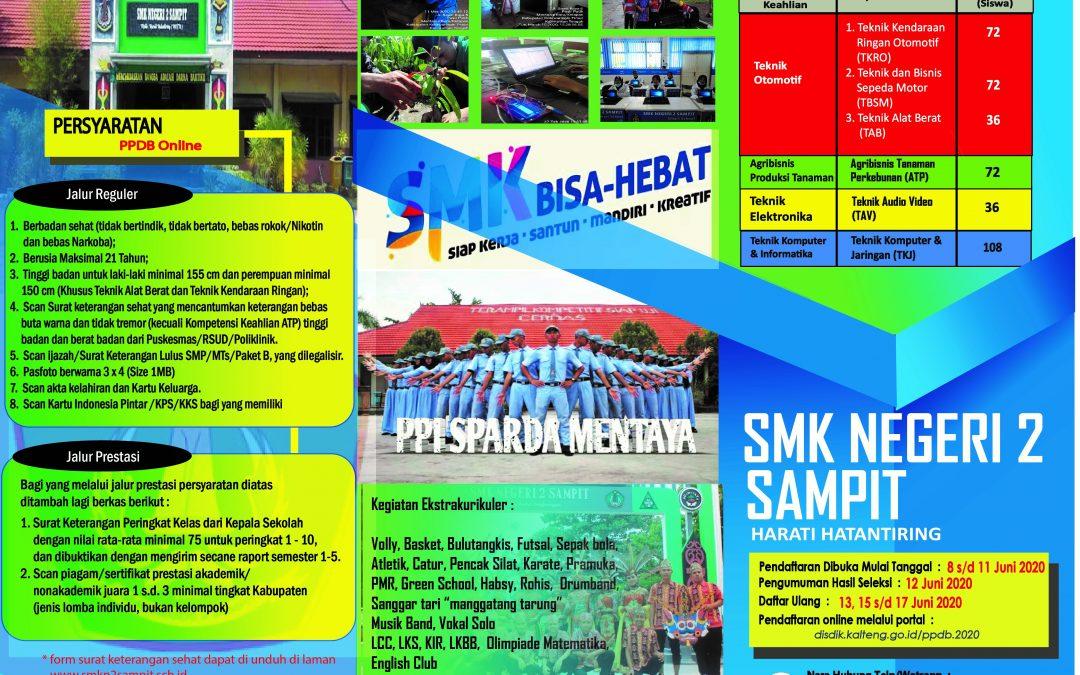 BROSUR TERBARU PENERIMAAN SISWA BARU TAHUN AJARAN 2020/2021 SMK NEGERI 2 SAMPIT
